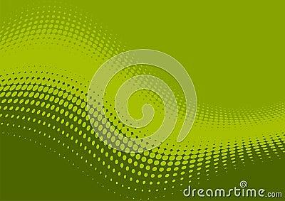 Wavy green pattern