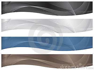 Wavy Headers/Banners - Neutrals