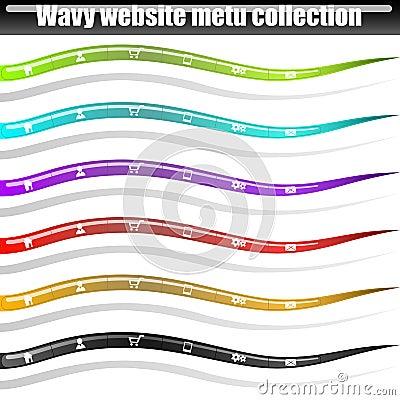 Wavy menu bars