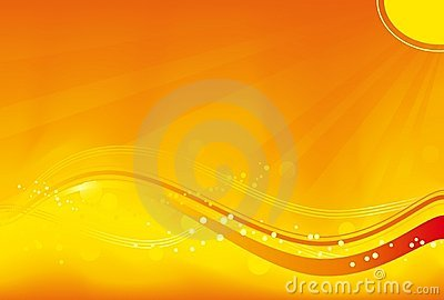 Wavy orange  background