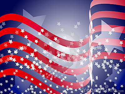 Wavy Patriotic Background