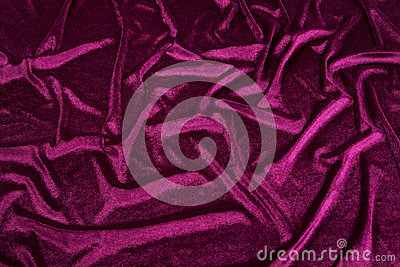 Wavy Purple velvet Fabric