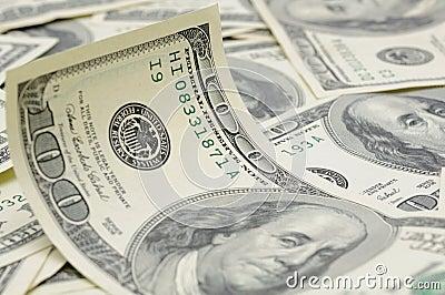 Wavy US dollar bill