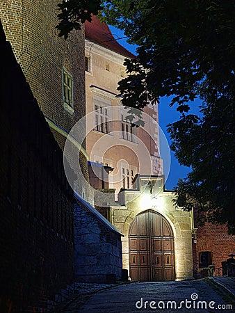Free Wawel Castle By Night Stock Image - 10509481