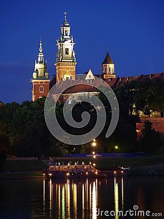 Free Wawel Castle By Night Stock Image - 17830451