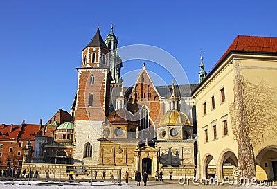 Wawel Castle complex in Krakow Editorial Photo