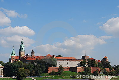 The wawel castle in krakov