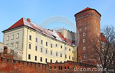Wawel castle in the winter