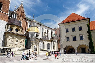 Wawel cathedral,Royal Castle in Krakow, Poland Editorial Stock Image
