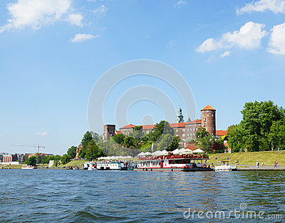 Wawel Hill in Krakow Editorial Stock Photo
