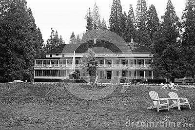 The Wawona Hotel in Yosemite National Park Editorial Photo