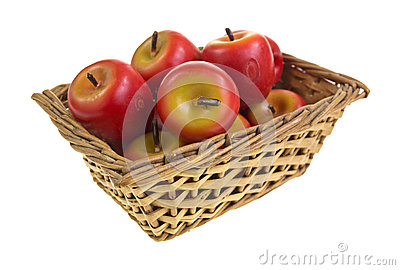 Wax apples in basket