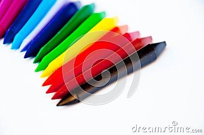 Multicoloured pensils