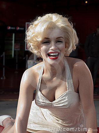 Wax figure of Marilyn Monroe Editorial Stock Image