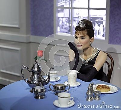Free Wax Figure Of Audrey Hepburn Stock Photography - 47549022
