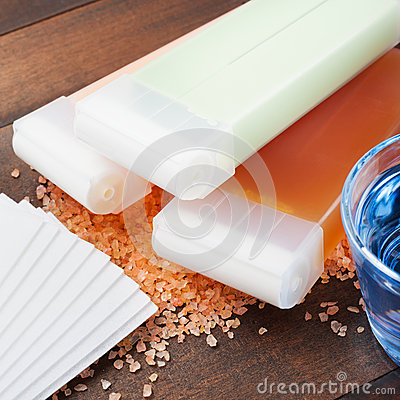 Wax for hair removal and oil
