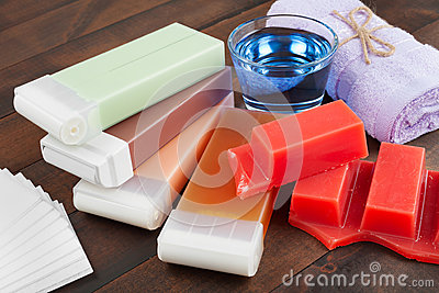 Wax For Hair Removal, Towel And Oil Royalty Free Stock Photo - Image: 28000545