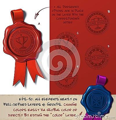 Free Wax Seal - Award Winner Stock Image - 92761671