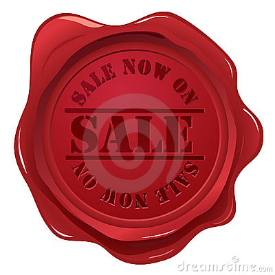 Wax seal with sale stamp