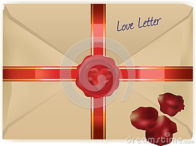 Wax sealed love letter