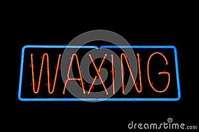 Waxing Sign