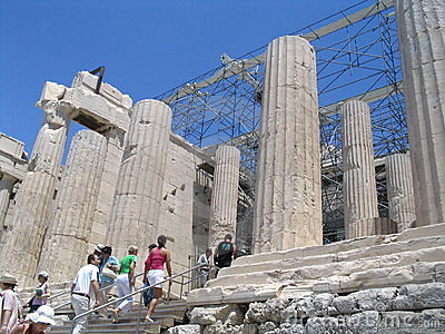 Way in acropolis