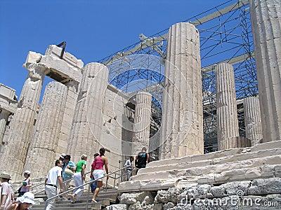 Way in acropolis