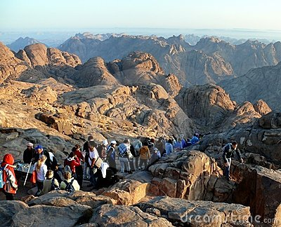 Way from Mount Sinai. Egypt Editorial Photo