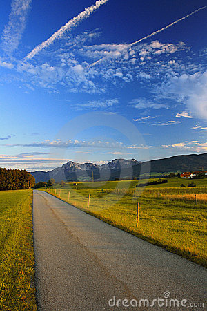 Way with Mountains and Evening Sky