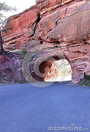 Way through red rocks near denver colorado