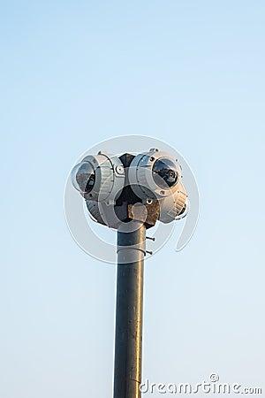 4 way round CCTV