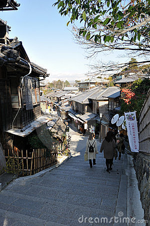 On the way to Kiyomizu dera Editorial Stock Image