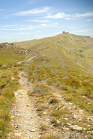Way to the mountain peak