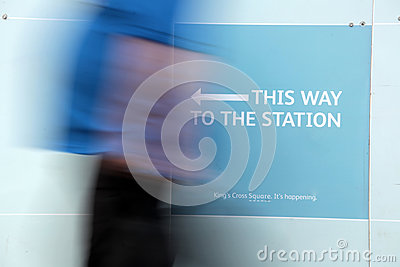 This way to the station Editorial Stock Photo