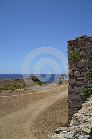 The way to the storage house, Methoni Castle