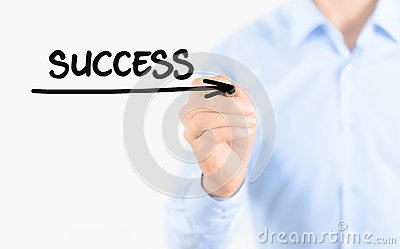 Way to success concept