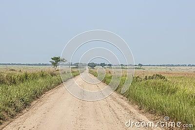 Way in the vastness of Uganda