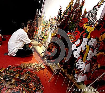 Wayang Kulit (Shadow Play) Editorial Stock Photo