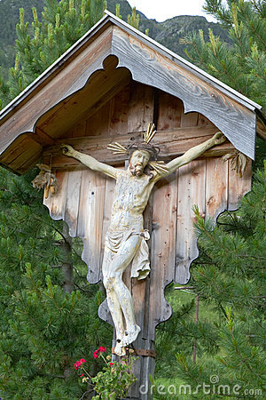 Wayside shrine in South Tyrol, Italy
