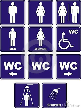 Free Wc Icons Royalty Free Stock Image - 3883626