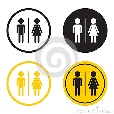 Free WC, Toilet Flat Vector Icon . Men And Women Sign For Restroom On Royalty Free Stock Image - 96388726