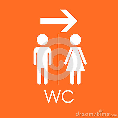 Free WC, Toilet Flat Vector Icon . Men And Women Sign For Restroom On Stock Images - 96389104