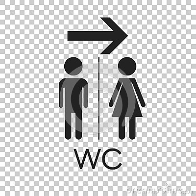 Free WC, Toilet Flat Vector Icon . Men And Women Sign For Restroom On Royalty Free Stock Images - 96389309