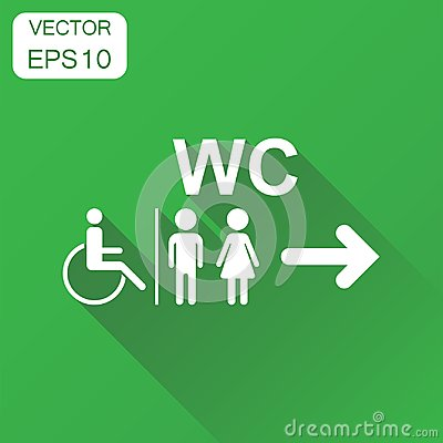 Free WC, Toilet Icon. Business Concept Men And Women Sign   Royalty Free Stock Photography - 99368637