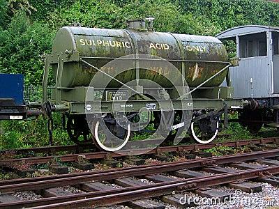 WD Sulphuric Acid Tank Wagon Editorial Image