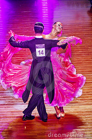 WDSF International style of Ballroomdancing Editorial Stock Image