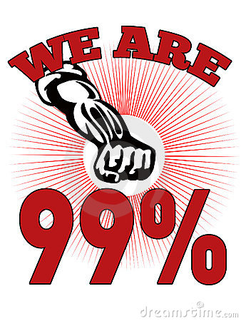 Free We Are 99  Occupy Wall Street American Worker Stock Photo - 21834110