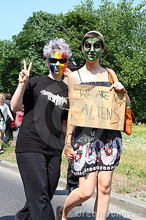 Free We Are Not Aliens Stock Photography - 15187862