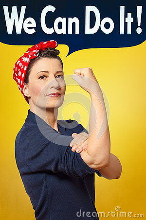 Free We Can Do It Photo Rosie Riveter Royalty Free Stock Images - 73080769