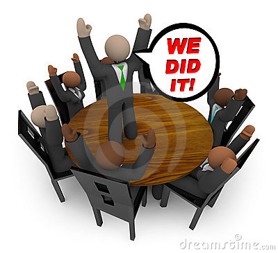 Free We Did It - Business Team Meeting Stock Photo - 10213610